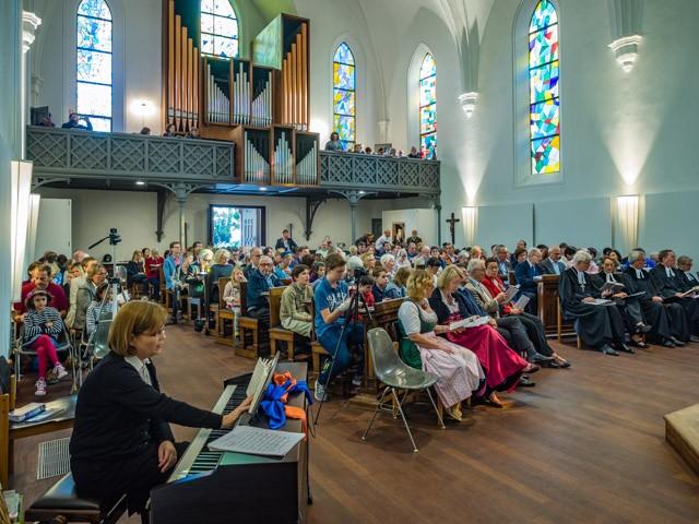 Die Kirche war sehr gut besucht