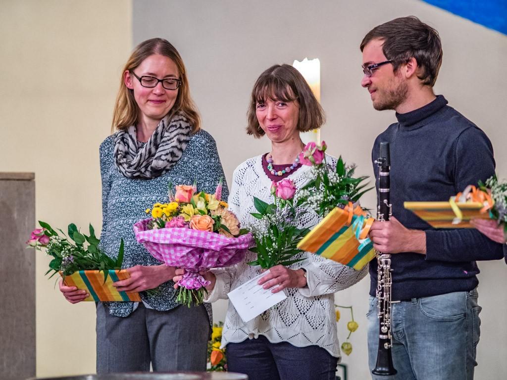 Ein großer Blumenstrauss für Gabi Lay