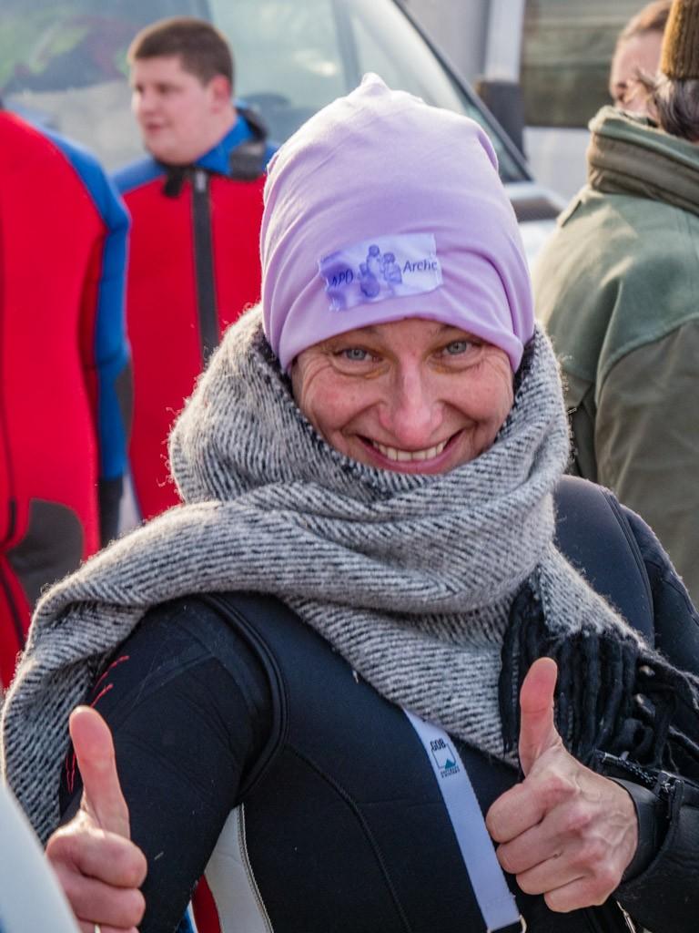 Aufwärmen vor dem Start: Pfarrerin Dr. Anne Stempel-de Fallois
