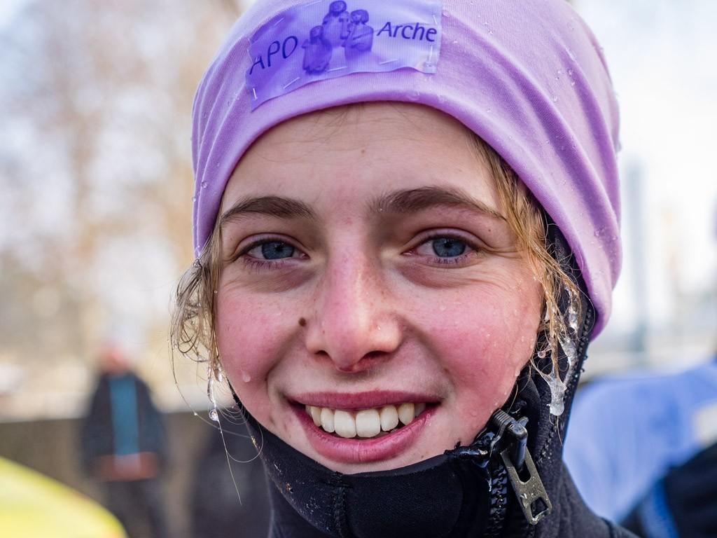 Eis im Haar, aber glücklich: Noémi