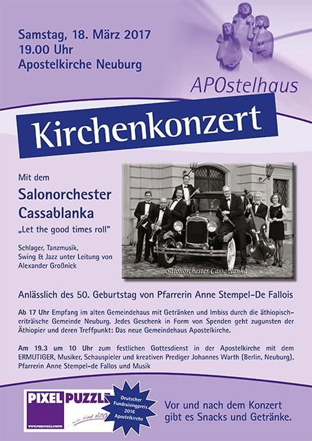 Das Werbeplakat zum Konzert